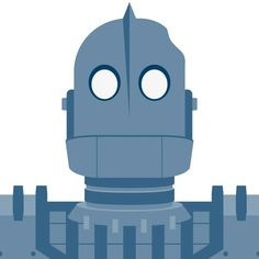 Flat design Iron Giant