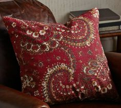 Chalet Paisley Pillow Cover | Pottery Barn: Mix it with the leopard!