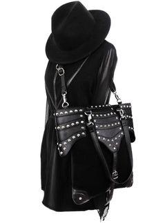 Restyle Steampunk Handtasche Gothic Tasche 90s Armor Bag Vintage Punk Nugoth Wgt in Kleidung & Accessoires, Damentaschen | eBay