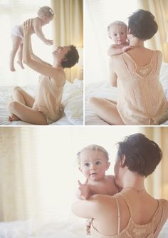 Maternity Shoot Ideas: Precious! I love how photographers can capture the relationship between a mother and baby. No bond is greater then that of a parent and child. I hope that this year I get a chance to do work like this.