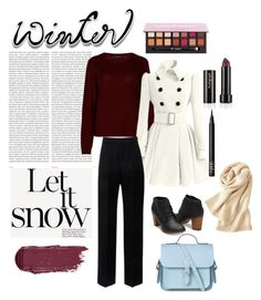 """""""winter"""" by silencejune on Polyvore featuring Oris, 360cashmere, Lanvin, The Cambridge Satchel Company, NARS Cosmetics and Uniqlo"""