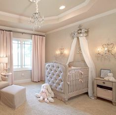 15 Cutest Baby Girl Nursery Room Ideas (pink & girly) Every mother dreams about decorating her baby girls' nursery. When you think of a baby girl nursery room most people think pink and girly. Today, that's exactly what I'm going to give you. Baby Nursery Decor, Baby Bedroom, Baby Decor, Girls Bedroom, Baby Rooms, Baby Girl Bedroom Ideas, Beige Nursery, Baby Gurl Nursery, Baby Nursery Ideas For Girl