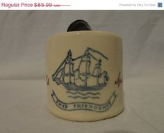 ON SALE Vintage Old Spice 1940's Glass Shaving Mug Pure by dtriece