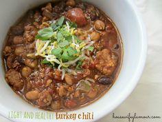 Light and Healthy Turkey Chili Recipe! (crockpot).