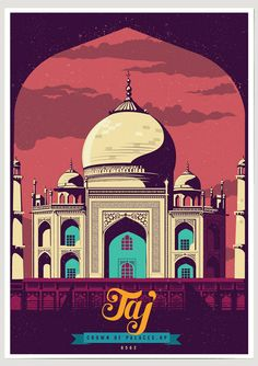 Taj Mahal | Ranganath pays tribute to four iconic Indian monuments in his Discover India Artist Series. #ThisIsMyArt ● #ArtOfOurTimes ● Own it & #SupportTheArtist | Artist Series | Artist - RANGANATH KRISHNAMANI || A5 / A4 / A3 / A2 || ☏ (+91) 22 26550982 ||