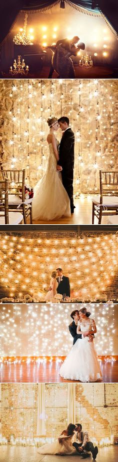 Oh Snap! 45 Creative Wedding Photo Backdrops - Magical Lighting!