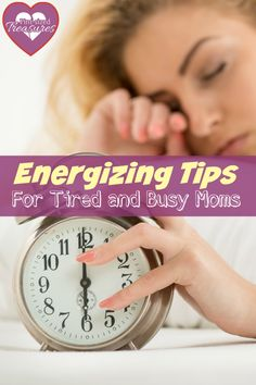 Energizing tips for busy and tired moms will help you get some pep back in your step! Motherhood is tough an you need all the energy you can get -- no essential oils required! @alicanwrite