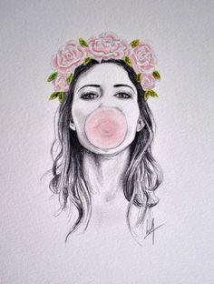 Bubble Art Print by Libby Watkins