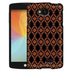 LG Optimus F60 Victorian Wallpaper Orange on Black Slim Case