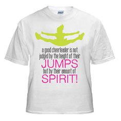 NEW!!    Amount of Spirit T-Shirt by Cheerleading Company