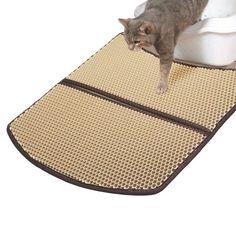 WooPet Cat Litter Mat Large Scatter Control Kitty Litter Mats for Cats Tracking…