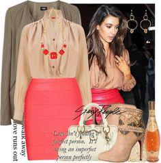 """Kim Kardashian style new contest ..."" by dalo0ola ❤ liked on Polyvore"