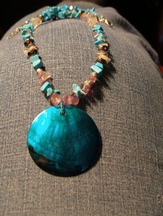Turquoise and Quartz - my first try at jewelry making