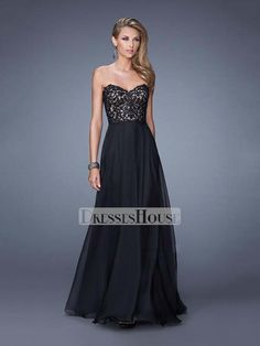 A-line Sweetheart Low Back Lace Appliques Chiffon Prom Dress PD11994