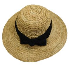 Crochet Raffia Sun Hat with Lace Scarf