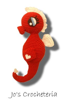 Crochet this Free Seahorse pattern with Jo's Crocheteria. Easy instructions to follow and picture to help.