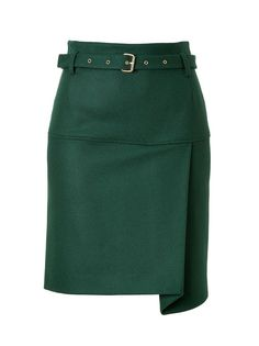 Wool blend skirt with asymmetric draping   See by Chloe