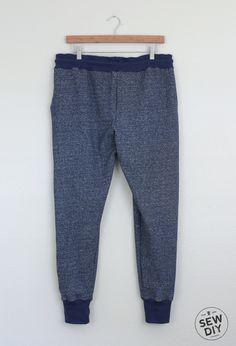 Mottled Blue Hudson Pants — Sew DIY