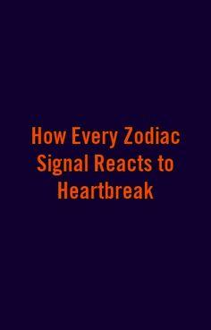 How Every Zodiac Signal Reacts to Heartbreak