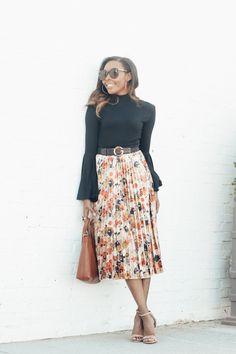 TREND ALERT: Two Ways To Wear The Velvet Skirt