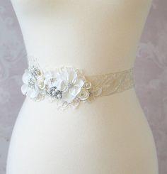 Creamy Ivory Bridal Sash