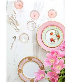 sweet pink dishes