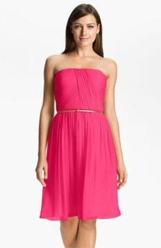 Donna Morgan 'Donna' Belted Chiffon Dress $178.0 by bbygrlover98