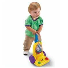It's time to tidy up! This push-along toy vacuum is a great way for toddlers to sing and learn while helping out and playing. Switch the vacuum to one of three modes—Learning, Music or Imagination—and get ready for little ones to pick up new skills