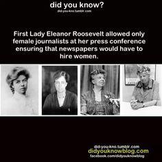 Eleanor Roosevelt = feminist