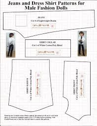 Risultati immagini per free printable ken doll clothes patterns