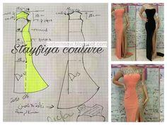 Mermaid Dress Pattern, Gown Pattern, Easy Sewing Patterns, Clothing Patterns, Dress Patterns, Body Hugging Dress, Long Sleeve Short Dress, Short Sleeves, Stylish Blouse Design
