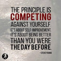 THE ONLY COMPETITION...you should ever really need! Focus on PROGRESS! #success #motivation #quotes #health #fitness #driven #a3dlife (http://ift.tt/2fY5v2S)
