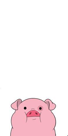 Iphone Wallpaper Herbst, Pig Wallpaper, Cartoon Wallpaper Iphone, Disney Phone Wallpaper, Iphone Background Wallpaper, Fall Wallpaper, Cute Cartoon Wallpapers, Kawaii Wallpaper, Aesthetic Iphone Wallpaper