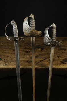 Two British Steel-hilted Infantry Swords; one late Victorian