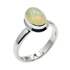 Shimmering Ethiopian Opal & .925 Sterling Silver by TheSilverPlaza