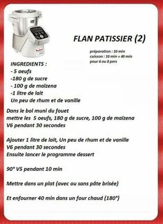Flan patissier Cooking Chef, Easy Cooking, Dessert Companion, Cake Preparation, Desserts With Biscuits, Cake Factory, Real Housewives, Panna Cotta, Fondant