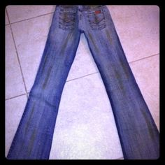 Italian Imported Jeans... Distressed MUDs Gatopardo Mudd Slashed ( look) Jeans! These are out of the norm, with streaks of attitude! They are super stretchy and fit size 1-4 Gatopardo Jeans