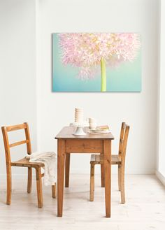 Sommerlicher Leindwand Druck mit Blüten in Pastell, Blumen, Wanddeko / canvas print with crayon blossoms for summer, wall decoration made by JustePixx Photography & Design via DaWanda.com