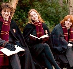 One thing I love about the golden trio is that they are all the awkward third friend
