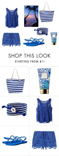 """set5"" by mujo-ziba ❤ liked on Polyvore featuring AERIN, Havaianas and Miguelina"