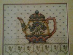 jarra de té, punto de cruz