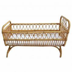 Woven bamboo crib