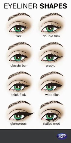 Try these different eyeliner styles to mix up your look. There's cat eye makeup, liquid eyeliner and the best smudge proof eyeliner techniques. Love Makeup, Makeup Inspo, Makeup Inspiration, Makeup Tips, Beauty Makeup, Hair Beauty, Makeup Blog, Style Inspiration, Make Up Looks