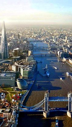 The River Thames, London, England...
