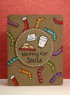 Waiting for Santa Card by Yainea (Lawn Fawn stamps)