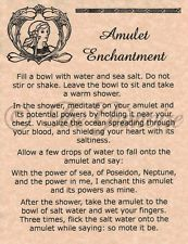 Amulet Enchantment Spell - Book of Shadows Page - BOS Pages - Wicca - Witchcraft