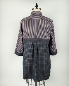 Designed and sewn by Michelle Paganini. Made from upcycled men's shirts.