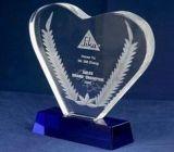 Heart shape acrylic plaques and awards ATK-018