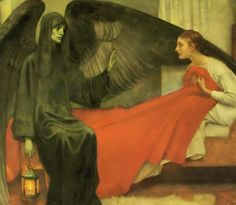 Marianne Stokes: Death and the Maiden (1900)