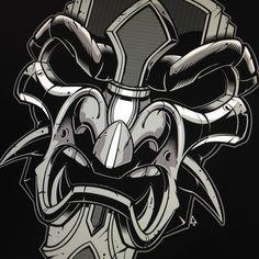 "376 To se mi líbí, 1 komentářů – Jared Mirabile (@sweyda) na Instagramu: ""Droppin colors. #samurai #vector #warrior #mask #sweyda #illustration"""